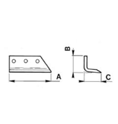 COLTELLO PER SCAVAFOSSI Coltello esterno S45A per DMR 45-45PA/ MR 45-55B