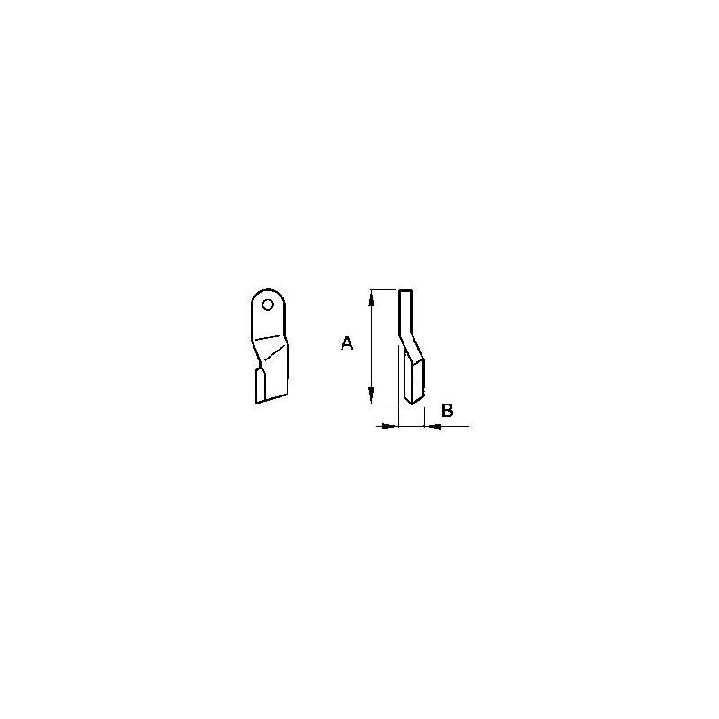 Zappetta per Howard Rotavatortype type rotaslasher 78663 - KIT DA 10 ZAPPE
