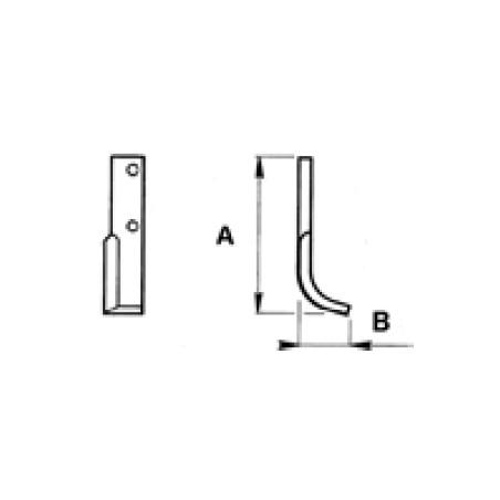 Zappetta per MAB Curva Lunga Formica 4189 - KIT DA 10 ZAPPE