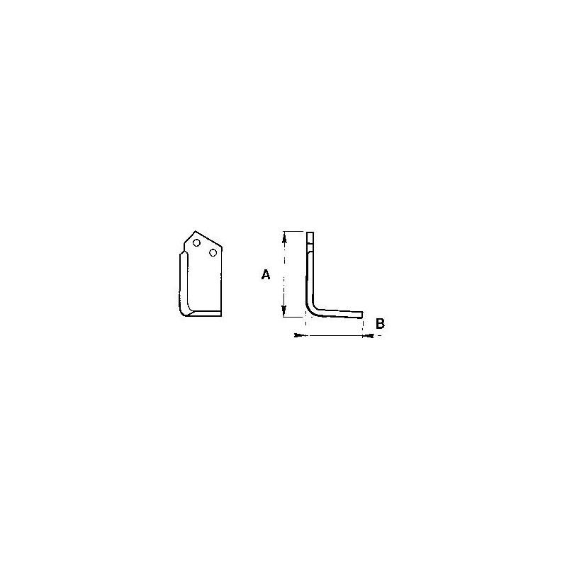 Zappetta per Howard Rotavator type Hl-p Francese 9900/01 - KIT DA 10 ZAPPE