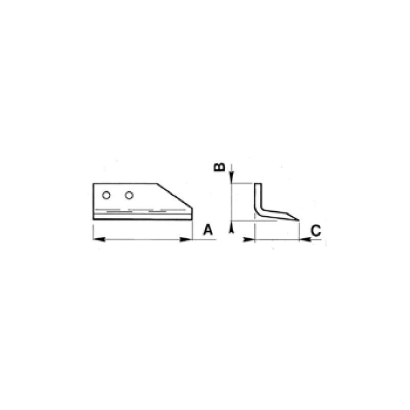 COLTELLO PER SCAVAFOSSI Coltello esterno S25B DX per DMR 25/35-35B/25S