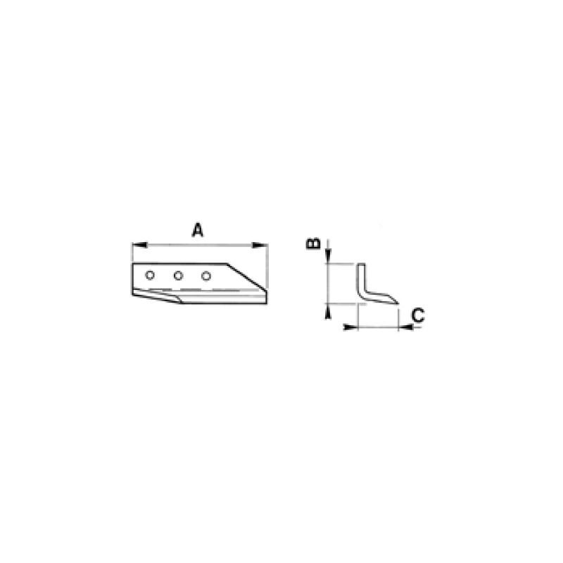 COLTELLO PER SCAVAFOSSI Coltello esterno S45C SX per DMR 65/75