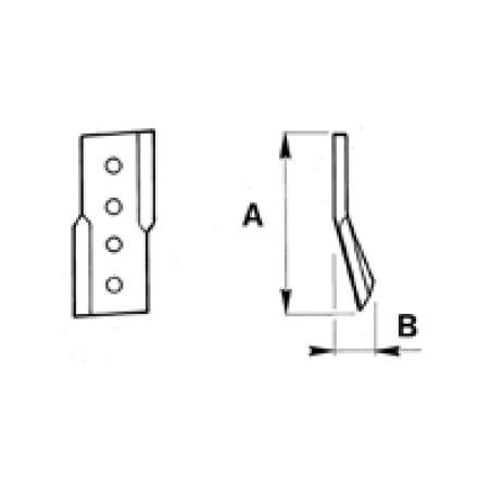 COLTELLO PER SCAVAFOSSI Coltello laterale AFR/O-OS 3000082