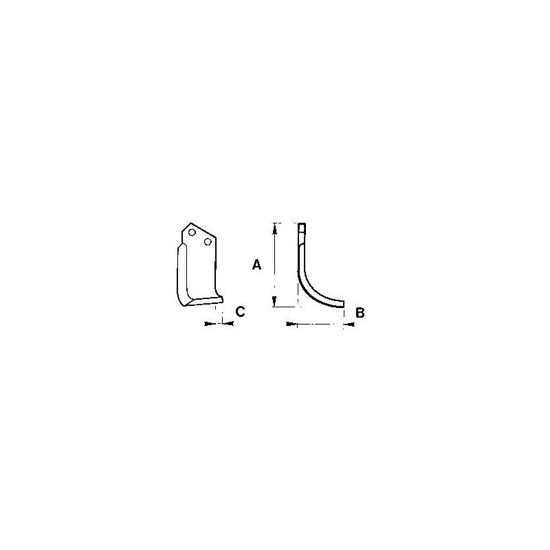 Zappetta per Howard Rotavator type u 9948/49