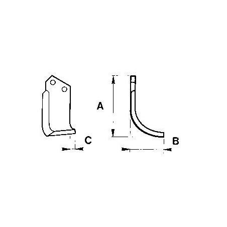 Zappetta per Howard Rotavator type Hl-p 9953/54