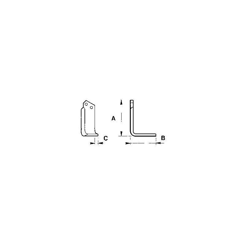 Zappetta per Howard Rotavator type Hl-p 9900/1 - KIT DA 10 ZAPPE