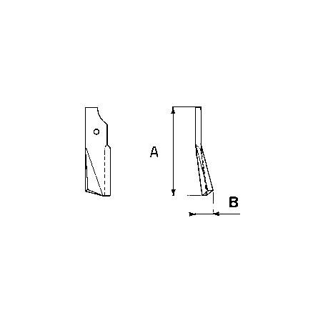 Maschio cultitiller m74100411/12 - KIT DA 10 ZAPPE