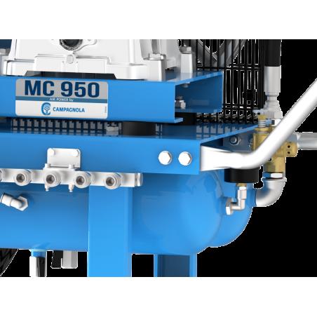 CAMPAGNOLA - MOTOCOMPRESSORE A SPINTA MC 950 CON MOTORE DIESEL KIPOR KD100, 10 HP AVVIAMENTO ELETTRICO