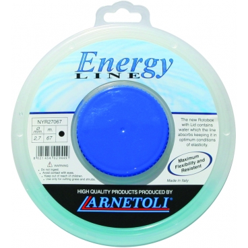 ARNETOLI Rotobox ENERGY-LINE - profilo tondo - 2,7 mm. - 67 mt.